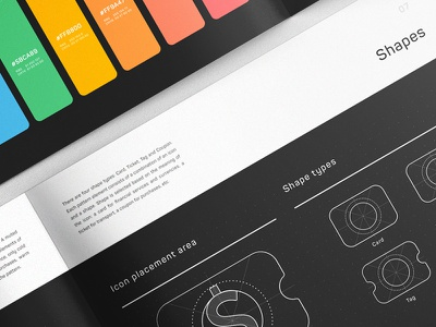 SWiP Colors and Shapes identity cover album colors brand manual gudelines branding palette pages book brandbook