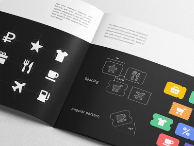 SWiP Iconography and Pattern identity cover album colors brand manual gudelines branding palette pages book brandbook