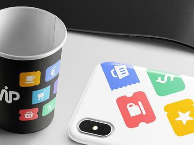 SWiP Branding Stuff paper coffee cup case iphone identity colors brand branding