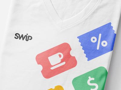 SWiP T-shirt qr printing shirt t-shirt