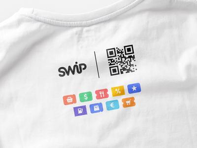SWiP T-shirt Back t-shirt shirt printing qr