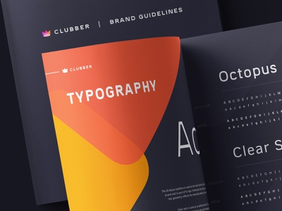 Clubber Branding: Typography font typeface logo brand
