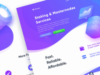 Allnodes Product Page parallax bot stats cryptocurrency crypto server hosting animation page web design landing web