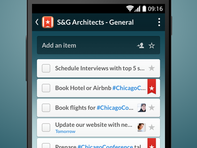 Wunderlist 3 - Item View wunderlist 3 android ui app to do list list oh baby