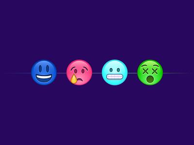 I'm an emo groovy colourful emoji