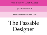 Introducing The Passable Designer