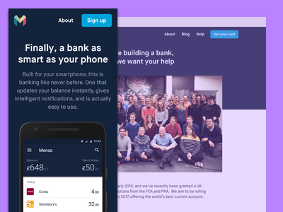 New Monzo Website monzo fintech bank website