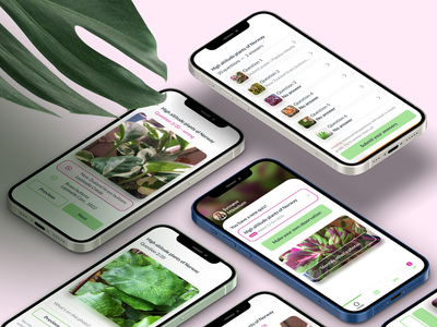 Plant identification app webapp mobile ui mobile application user experience university ux ui app design app plants app plants