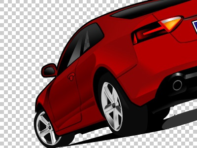 My first steps with Photoshop car photoshop draw vector shadows lights 2008
