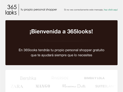 Fashion social network welcome mail email welcome onboarding fashion