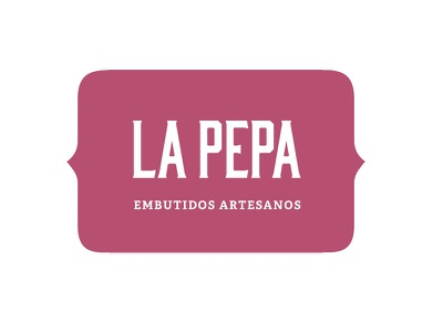 La Pepa adelle serif bourbon type carnicería butcher pink logotype logo brand