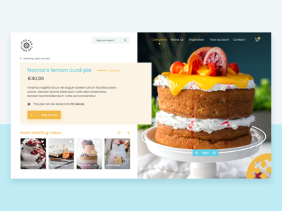 Pastry online shop experience