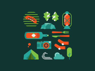 Pattern for a campsite