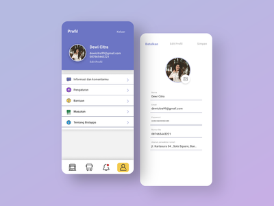 Profile UI Design || Public Transportation App || Bistapps design brt busway app ui bus rapid transit blue app app design future app bistapps