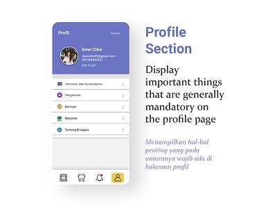 Profile Section Fresh UI || Public Transport App || Bistapps study case travel app ui design brt busway app bus rapid transit blue app app design future app bistapps