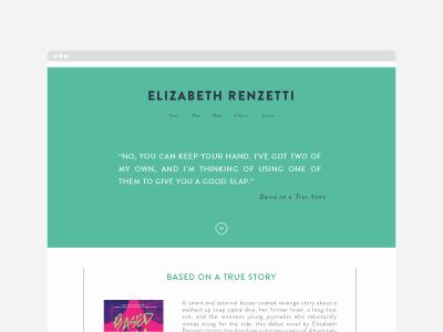 Elizabeth Renzetti website design writer portfolio clean minimal website journalist