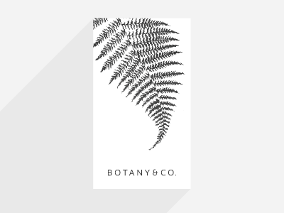 Botany & Co. minimal floral fern business card identity brand