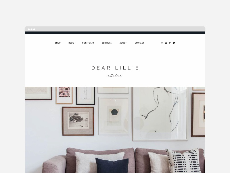 Dear Lillie interior design website design web layout ecommerce