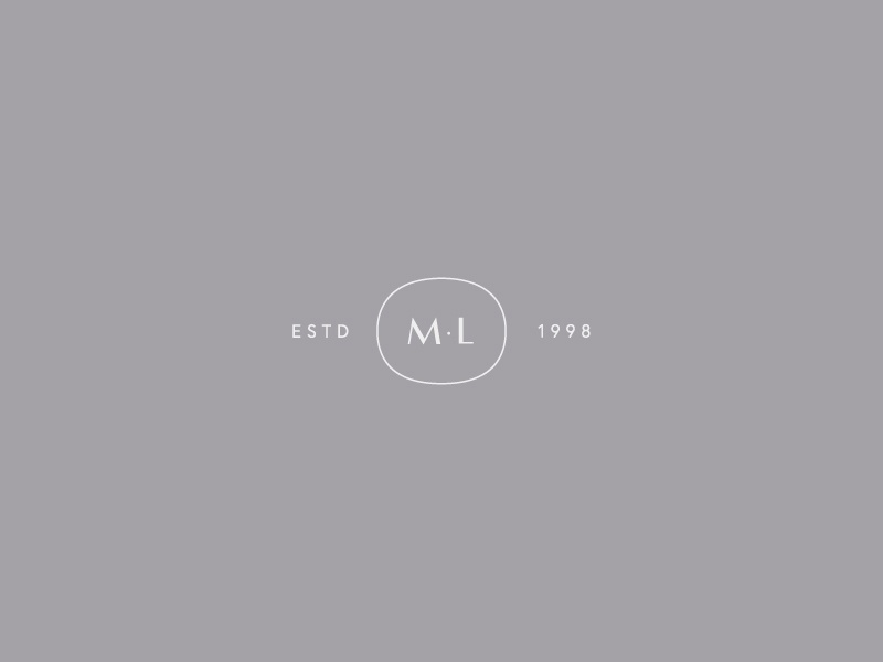 Muskoka Living Mark monogram logo design art direction clean identity brand typography branding minimal