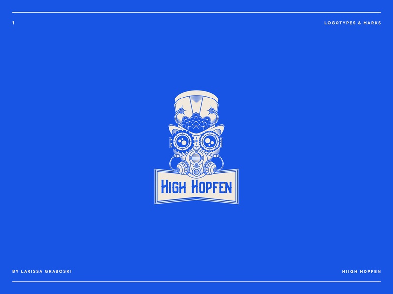 High Hopfen Project brewery branding beer branding brand identity steanpunk brand brewery logo branding logo beer beer