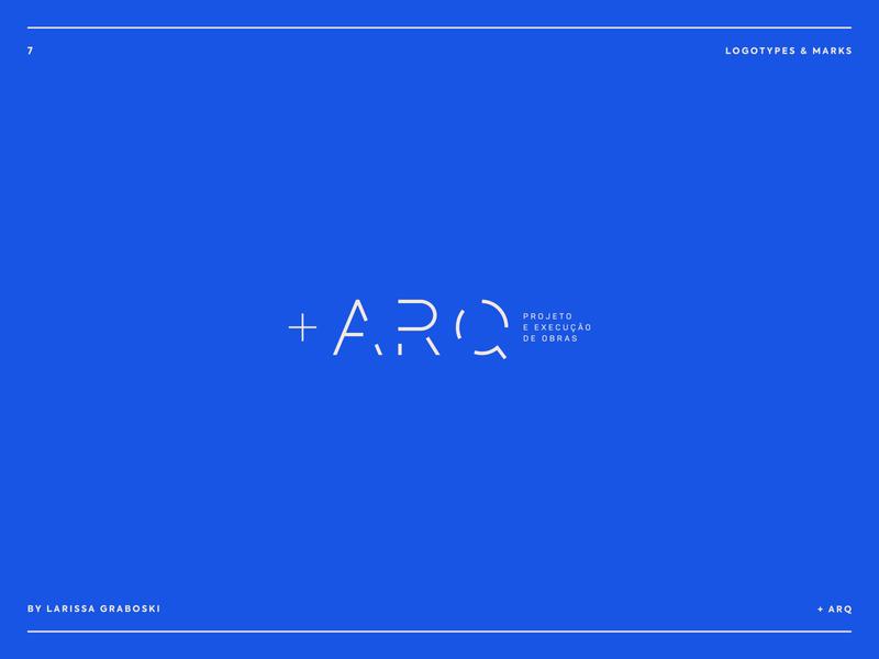 + ARQ Project arquiteto arquitectura arquitecture arquitetura arq brand identity brand design brand mark blue logodesign logotype logo