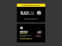 Blackline Performance Business Cards