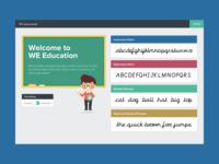 We Education - Dashboard