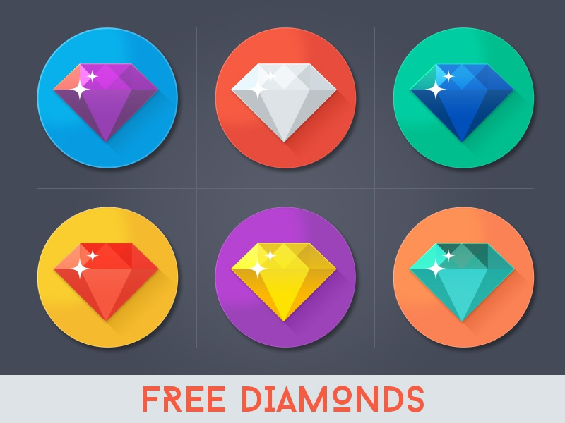 Free Diamond Icons free freebie icon diamond psd flat simple colorful shiny minimal