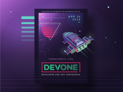 Ready for take-off vector spaceship space rocket retro print poster neon illustration event conference 80s
