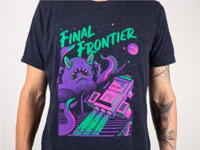 Final Frontier Shirt monster alien clothing tee shirtdesign shirt print space illustration t-shirt
