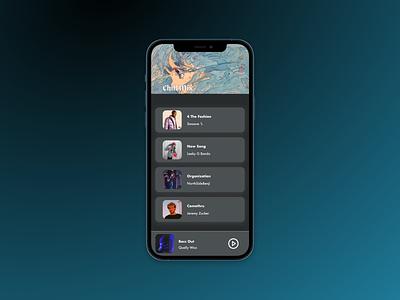 Music Playlist figma ui design playlist ui dark background webdesign design
