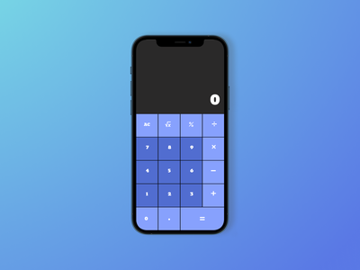 Calculator - Daily UI 004 mobile app mobile design app ui dark background dailyui webdesign design