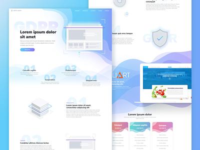 GDPR onepage design clean webdesign gdpr minimal design ui
