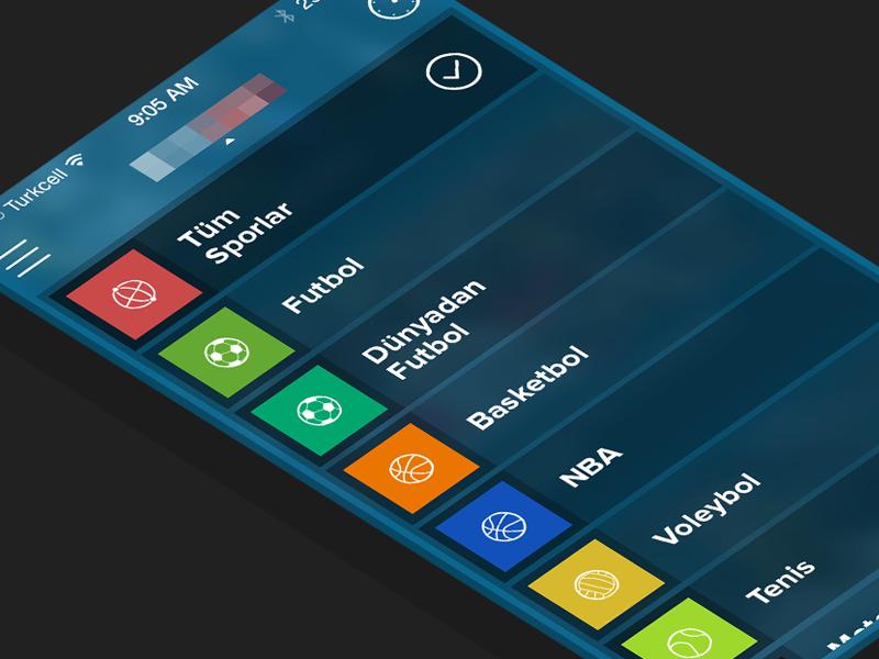 Sports App - Nav iOS7 sports news navigation application ios7 iphone apple design user-interface user-experience soccer sahan