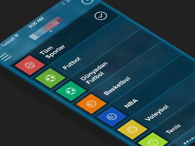 Sports App - Nav iOS7