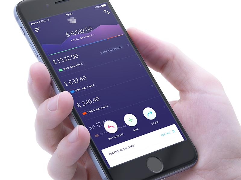 Finance App - Dashboard free wallet card money graph dashboard ios finance