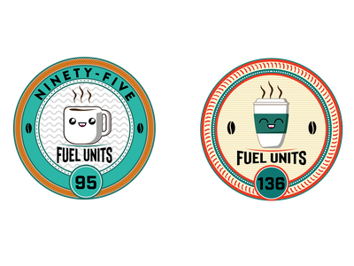 Fuel Units money currency coffee cup coffee branding logo design retro illustration cogwurx