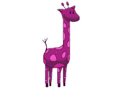 Purple Giraffe Pixel Art animal giraffe purple pixel pixel art logo retro branding design illustration cogwurx