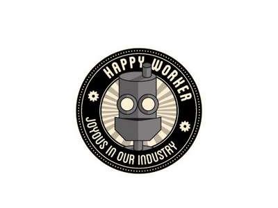 Stickers happy worker
