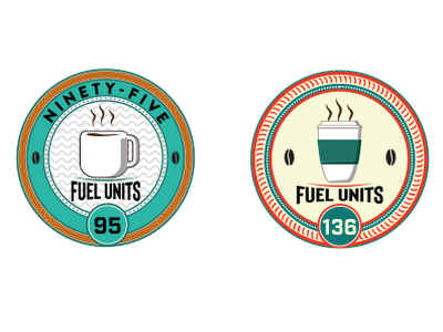 Fuel Units - v1 cup mug coffee badge coin retro design logo cogwurx