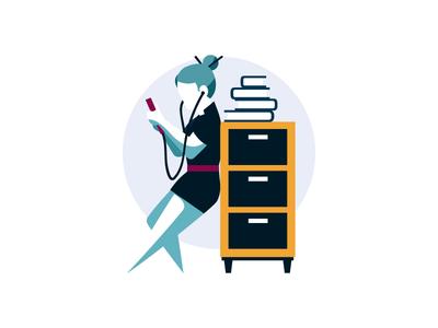 "Scribd- Spot illustration ""Endless Documents"""