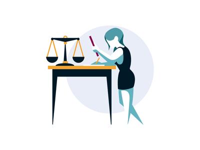 "Scribd- Spot illustration ""Legal Documents"""