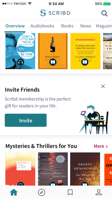 Narrow inviteweb drib comp