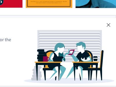 "Scribd- ""Invite Friends"" Promo Banner education user advertising marketing responsive design graphic illustration brand promotional banner promo"