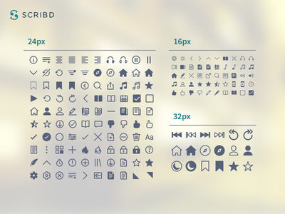 Scribd- Iconography communication visual design graphic small brand library fill line minimal iconography icon