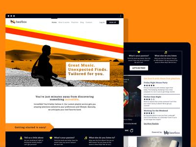Beat.Box (Concept) branding logo tablet mobile design web ui ux responsive project concept