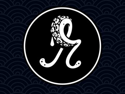 Robot Octopus (2018 rebrand) vector rebrand logo branding letterform r tentacle octopus script lettering