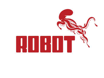 Robot Octopus (Puma version) practice inspiration art logo type typography lettering advertising ad brand branding parody