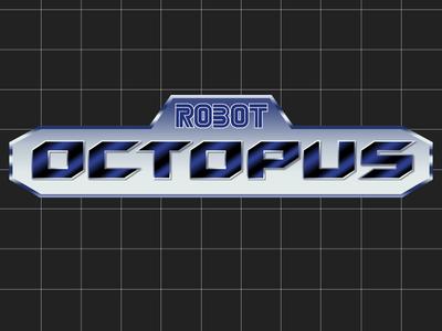 Robot Octopus (SEGA Genesis Version) sega video game typography type parody logotype logo lettering inspiration game brand art