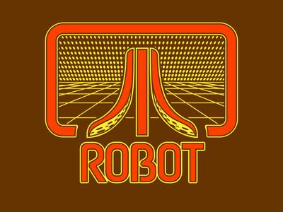 Robot Octopus (70's Atari T-shirt Version) art brand illustration inspiration lettering logo logotype parody type typography game shirt